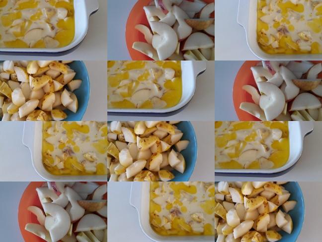 őszi almás-körtés cobbler