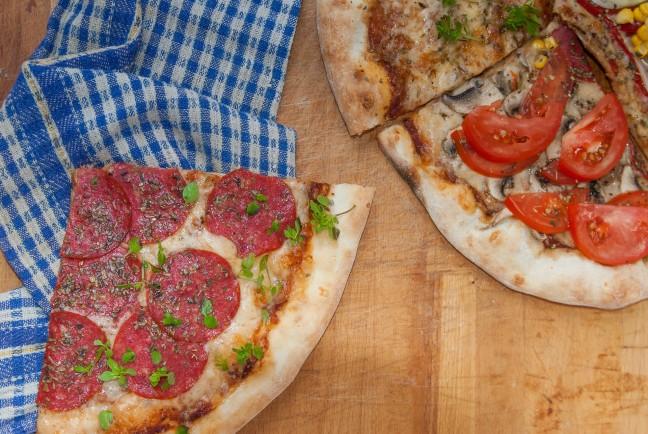 süss serpenyőben pizzát