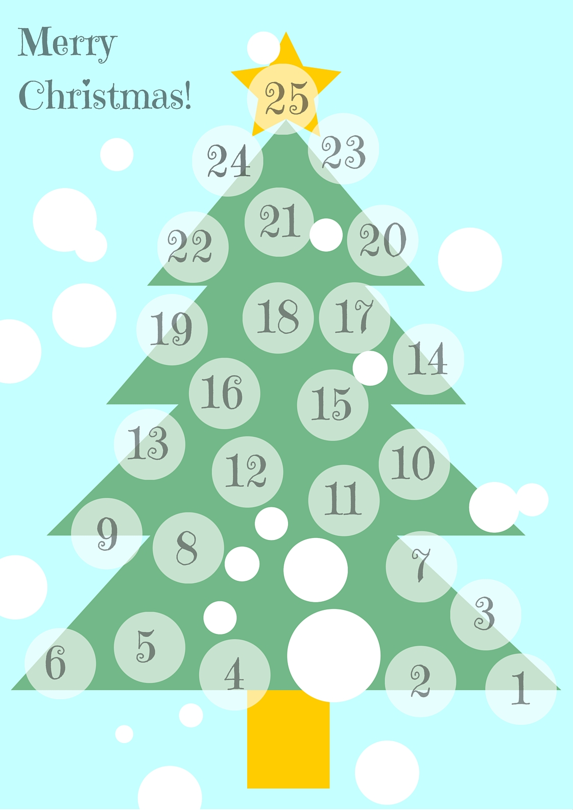Minimalist Advent Calendar : Minimalist advent calendar mom with five
