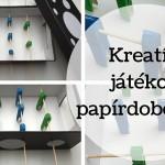 Tuti unaloműző játék papírdobozból