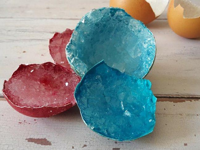 kristályok tojáshéjból