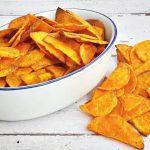 Egészséges chips édesburgonyából