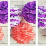 Bohókás farsangi dekor: pomponok papírból