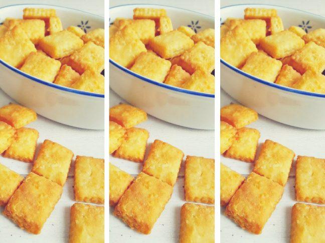 duplasajtos sós keksz