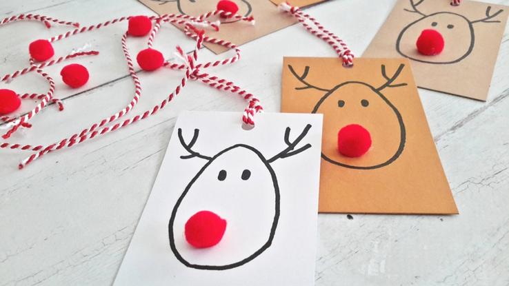 rénszarvasos ajándékkártya