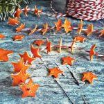 Csak természetesen: ünnepi füzér mandarinhéjból