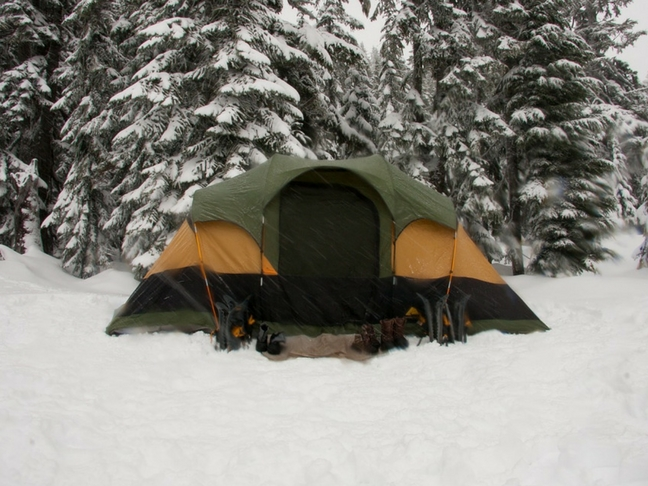 cold winter camping