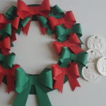 Christmas Wreath From Origami Bows