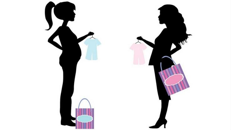 pregnan woman shopping