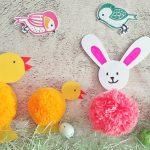 Nyúl és csibe: bohókás húsvéti pomponok